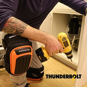 Thunderbolt Knee Pads for tiling
