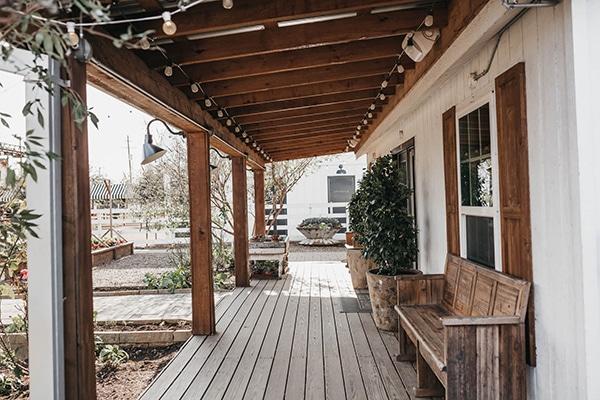 Hardwood deck