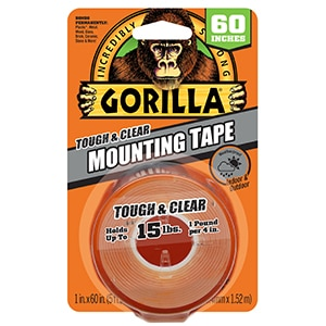 Gorilla Tough and Clear Mounting Tape